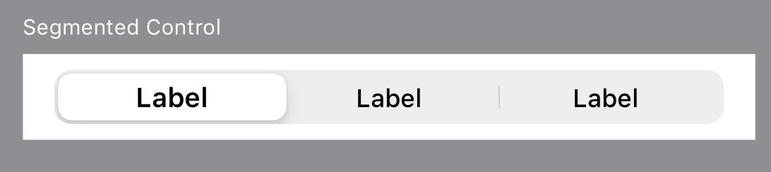 分段选择器 Segmented Control